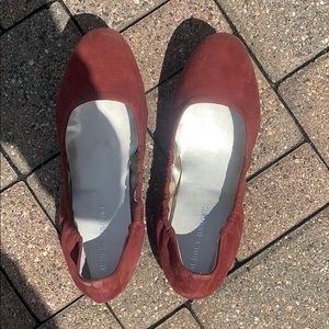 Red Flats Never Worn Size 10